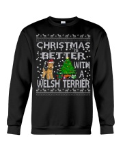 Christmas Is Better With A Welsh Terrier Crewneck Sweatshirt tile