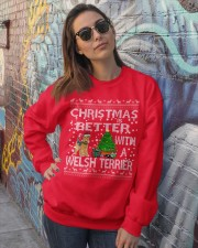 Christmas Is Better With A Welsh Terrier Crewneck Sweatshirt lifestyle-unisex-sweatshirt-front-3