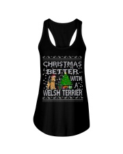 Christmas Is Better With A Welsh Terrier Ladies Flowy Tank thumbnail