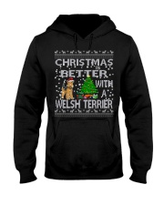 Christmas Is Better With A Welsh Terrier Hooded Sweatshirt thumbnail