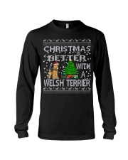 Christmas Is Better With A Welsh Terrier Long Sleeve Tee thumbnail