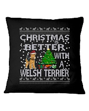Christmas Is Better With A Welsh Terrier Square Pillowcase thumbnail