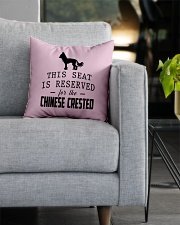 This Seat Is For Chinese Crested Square Pillowcase aos-pillow-square-front-lifestyle-05