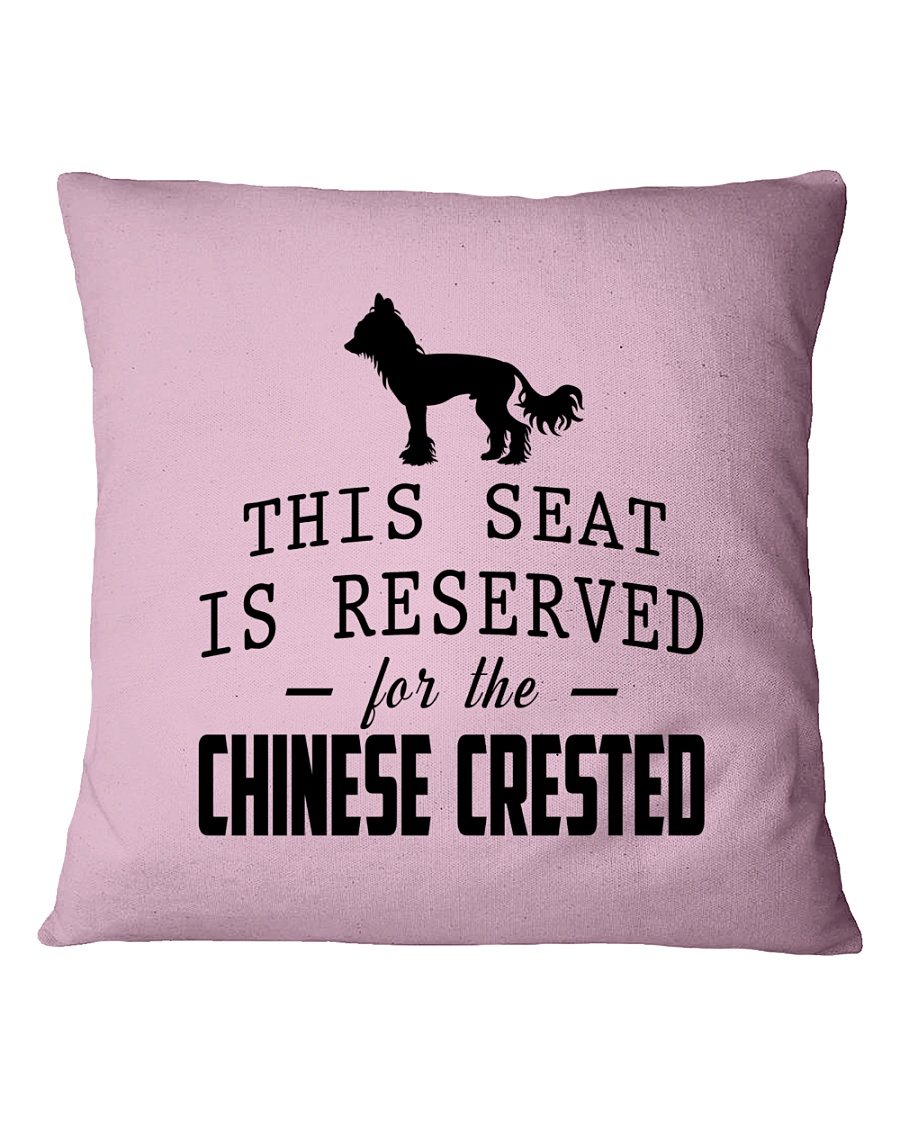 This Seat Is For Chinese Crested Square Pillowcase