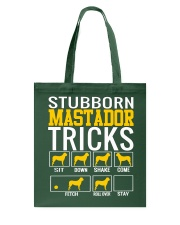 Stubborn Mastador  Tricks Tote Bag thumbnail