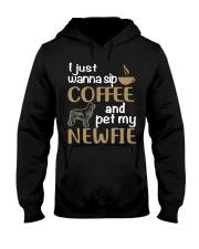 Sip Coffee WIth Newfie Hooded Sweatshirt tile