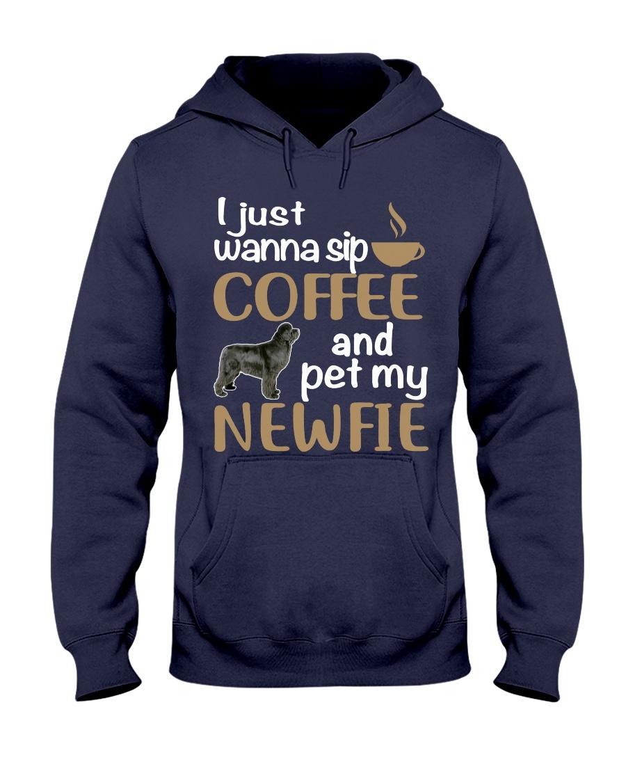 Sip Coffee WIth Newfie Hooded Sweatshirt