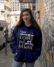 Sip Coffee WIth Newfie Hooded Sweatshirt lifestyle-unisex-hoodie-front-1