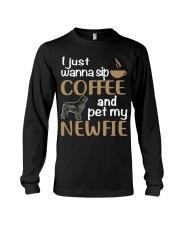 Sip Coffee WIth Newfie Long Sleeve Tee thumbnail