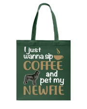 Sip Coffee WIth Newfie Tote Bag thumbnail