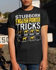 Stubborn English Pointer Tricks Classic T-Shirt apparel-classic-tshirt-lifestyle-29