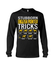 Stubborn English Pointer Tricks Long Sleeve Tee thumbnail