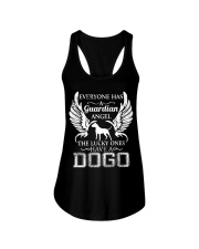 My Guardian Angel Is A Dogo Argentino Ladies Flowy Tank thumbnail