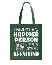 Happier Person Keeshond Tote Bag thumbnail