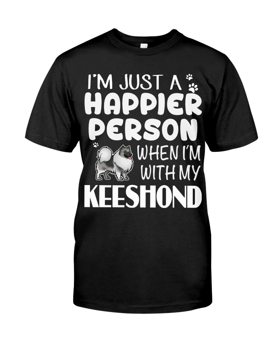 Happier Person Keeshond Classic T-Shirt