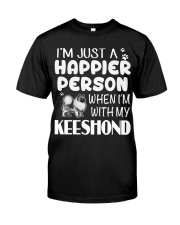 Happier Person Keeshond Classic T-Shirt front