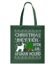 Christmas Is Better With An Afghan Hound Tote Bag thumbnail