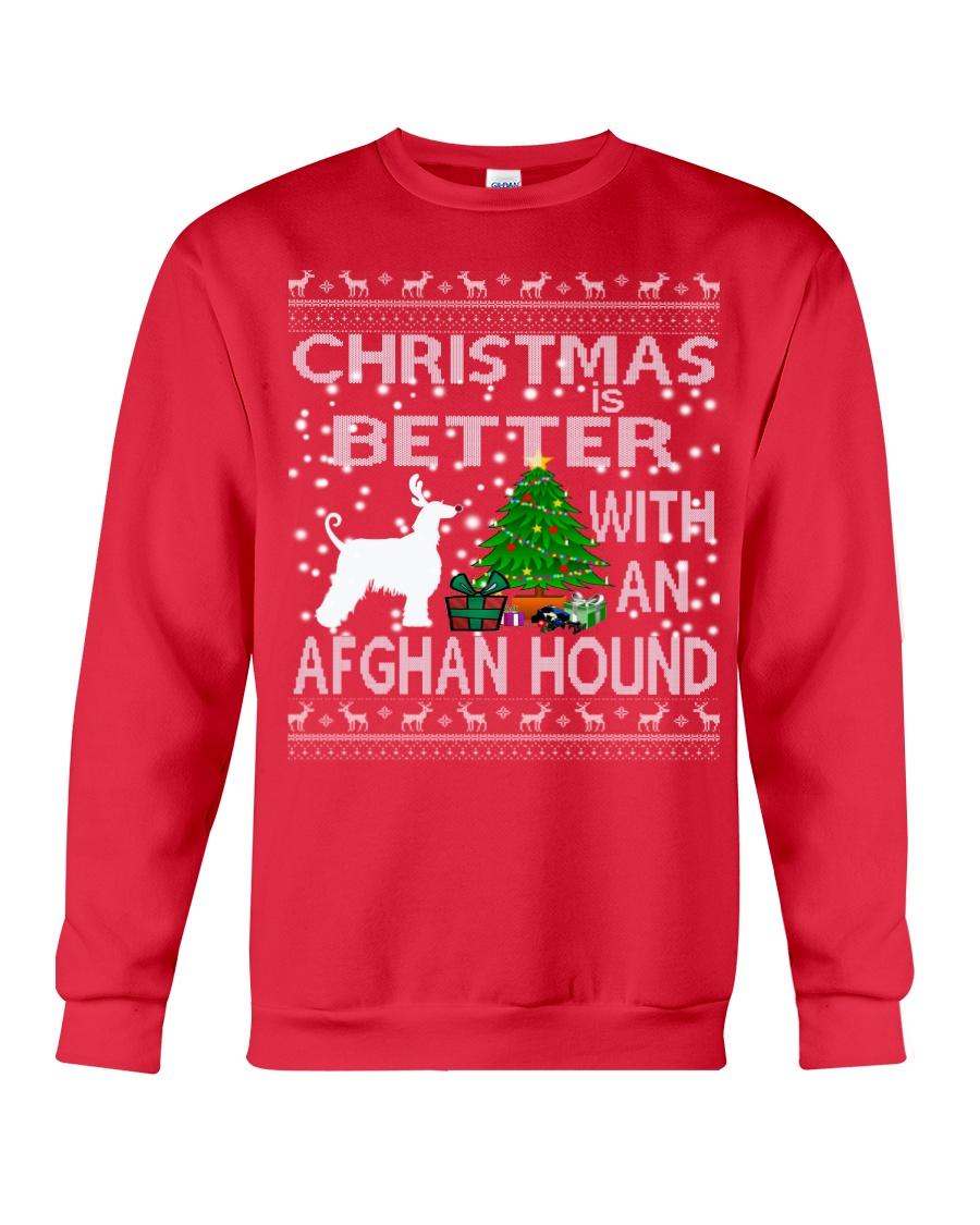 Christmas Is Better With An Afghan Hound Crewneck Sweatshirt