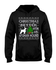 Christmas Is Better With An Afghan Hound Hooded Sweatshirt thumbnail