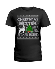 Christmas Is Better With An Afghan Hound Ladies T-Shirt thumbnail