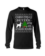 Christmas Is Better With An Afghan Hound Long Sleeve Tee thumbnail