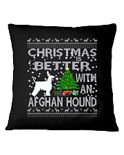Christmas Is Better With An Afghan Hound Square Pillowcase thumbnail