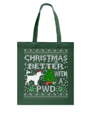 Christmas With A PWD Portuguese Water Dog Tote Bag thumbnail