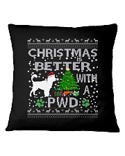 Christmas With A PWD Portuguese Water Dog Square Pillowcase thumbnail
