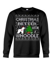 Christmas Is Better With A Whoodle Crewneck Sweatshirt tile