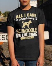 All I Care About Is My Schnoodle Classic T-Shirt apparel-classic-tshirt-lifestyle-29