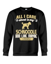 All I Care About Is My Schnoodle Crewneck Sweatshirt thumbnail