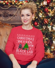Christmas Is Better With A Black Lab Crewneck Sweatshirt lifestyle-holiday-sweater-front-2