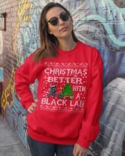 Christmas Is Better With A Black Lab Crewneck Sweatshirt lifestyle-unisex-sweatshirt-front-3