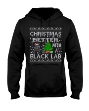 Christmas Is Better With A Black Lab Hooded Sweatshirt thumbnail