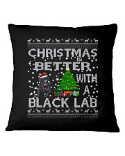 Christmas Is Better With A Black Lab Square Pillowcase thumbnail