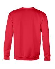 Crazy Lady Loves Black Lab  And Christmas Crewneck Sweatshirt back