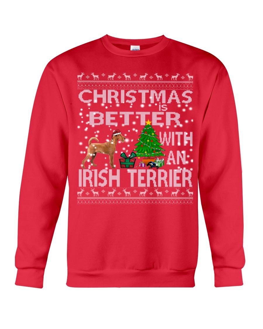 Christmas Is Better With An Irish Terrier Crewneck Sweatshirt