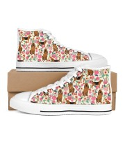 Bloodhound Women's High Top White Shoes thumbnail