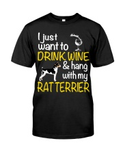 Drink Wine With Rat Terrier Classic T-Shirt front