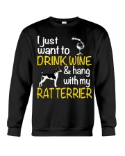 Drink Wine With Rat Terrier Crewneck Sweatshirt thumbnail