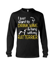 Drink Wine With Rat Terrier Long Sleeve Tee thumbnail