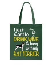 Drink Wine With Rat Terrier Tote Bag thumbnail