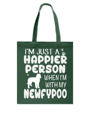 Happier Person Newfypoo Tote Bag thumbnail