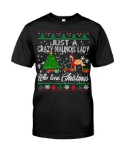 Crazy Malinois Lady Who Loves Christmas Classic T-Shirt thumbnail