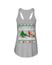 Crazy Malinois Lady Who Loves Christmas Ladies Flowy Tank thumbnail