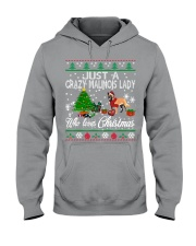 Crazy Malinois Lady Who Loves Christmas Hooded Sweatshirt thumbnail