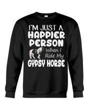 Happier Person Gypsy Horse Crewneck Sweatshirt thumbnail