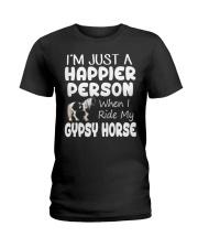 Happier Person Gypsy Horse Ladies T-Shirt thumbnail
