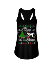 Crazy Lady Loves Bassador  And Christmas Ladies Flowy Tank thumbnail
