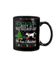 Crazy Lady Loves Bassador  And Christmas Mug thumbnail